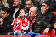 Lincoln City supporters ahead of the EFL Trophy Final match between Lincoln City and Shrewsbury Town at Wembley Stadium, London, England on 8 April 2018. Picture by Stephen Wright.