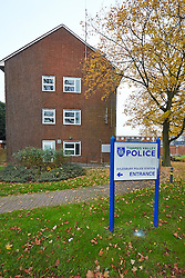 © Licensed to London News Pictures.  15/11/2012. ALYESBURY, UK. General view of Aylesbury Police Station in Buckinghamshire where former DJ Dave Lee Travis (not pictured) is thought to being held . He was arrested earlier this morning (Thursday 15) as part of Operation Yewtree which is investigation sexual abuse allegations.  Photo credit :  Cliff Hide/LNP