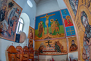 Interior of the Greek Orthodox Basilica of Saint George, Madaba, Jordan