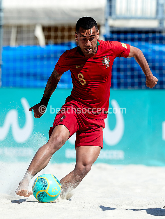 SALOU, SPAIN - MAY 11: Bernardo Barral Martins Santos of Portugal during the World Beach Games-Europe Qualifier Salou match between Ukraine and Portugal at Sport Complex Futbol Salou on May 11, 2019 in Salou, Barcelona. (Photo by Pedro Salado)