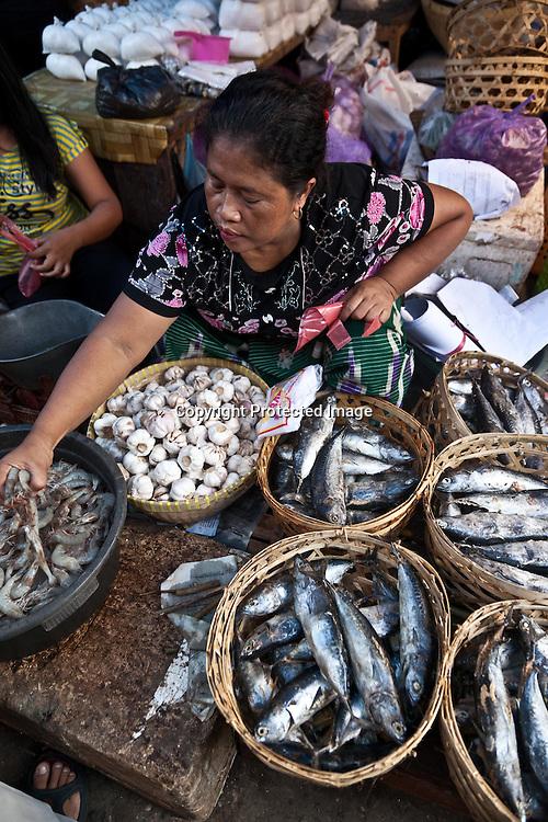 Indonesia, Lombok island, Mataram village market