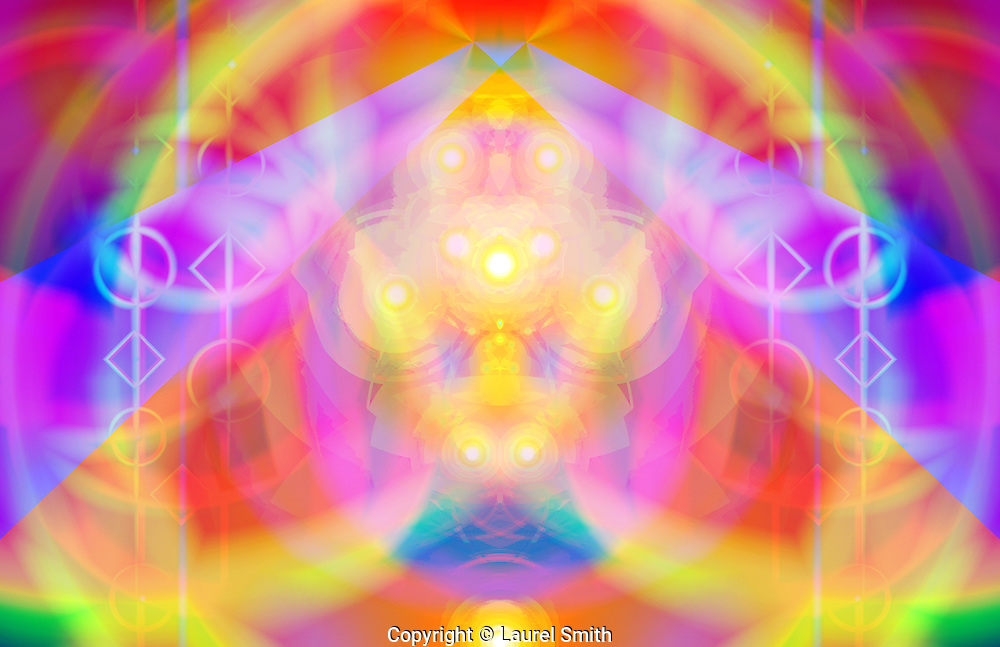 "Pleiadian Light Portal ~ <br /> © Laurel Smith<br /> <br /> Edition of 8, signed and numbered<br /> ink on paper prints.<br /> <br /> 13"" x 19""<br /> $450."
