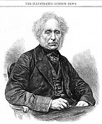 David Brewster (1781-1868) Scottish physicist  Brewster was editor of the 'Edinburgh Magazine', 1802 and the 'Edinburgh Encyclopaedia', 1808.  His scientific work was mainly in the field of optics. He invented the kaleidoscope, studied polarised light, and established a new discipline of optical mineralogy. From 'The Illustrated London News', (London, 1868). Wood engraving.