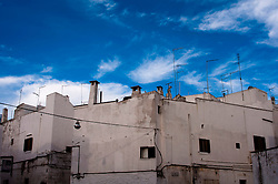 Foto di antenne nella parte ottocentesca di Ostuni