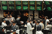 Traders at the Bolsa de Valores: Mexican stock exchange. Mexico City, Mexico.