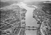 "ackroyd-05331-2. ""Dock Commission. Lower harbor. July 7, 1954"""