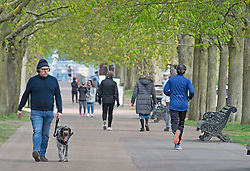 © Licensed to London News Pictures 08/04/2021. Greenwich, UK. People out and about in Greenwich Park, London as coronavirus lockdown restrictions continue to ease in the UK. Photo credit:Grant Falvey/LNP