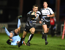 Lewis Williams of Pontypridd<br /> <br /> Photographer Mike Jones/Replay Images<br /> <br /> Principality Premiership - Neath v Pontypridd - Friday 16th March 2018 - The Gnoll Neath<br /> <br /> World Copyright © Replay Images . All rights reserved. info@replayimages.co.uk - http://replayimages.co.uk