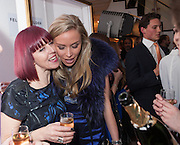 VICKY CORD; NOELLE RENO, Maison Triumph launch to celebrate the beginning of London fashion week. Monmouth St. 14 February 2013.