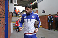 Diego Costa of Chelsea arrives at Selhurst Park before k/o. Barclays Premier League match, Crystal Palace v Chelsea at Selhurst Park in London on Sunday 3rd Jan 2016. pic by John Patrick Fletcher, Andrew Orchard sports photography.