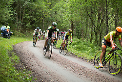 Dani King (GBR) of Cylance Pro Cycling rides the final gravel section of the Crescent Vargarda - a 152 km road race, starting and finishing in Vargarda on August 13, 2017, in Vastra Gotaland, Sweden. (Photo by Balint Hamvas/Velofocus.com)