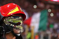 Pompiere e la Bandiera d'Italia  <br /> Roma 17-05-2017 Stadio Olimpico.<br /> Football Calcio Finale Coppa Italia / Italy's Cup Final 2016/2017. Juventus - Lazio<br /> Foto Cesare Purini / Insidefoto