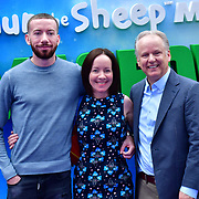 Mags Connolly and Nick Park attend the Shaun the Sheep Movie: Farmageddon, at ODEON LUXE on 22 September 2019,  London, UK