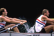 Peter Spurrier Sports  Photo<br />email pictures@rowingpics.com<br />Tel 44 (0) 7973 819 551<br />Photo Peter Spurrier<br />Steve Redgrave right and Simon Berrisford  World Championships Lake Bled 1989