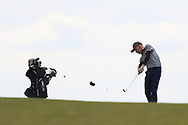 Cian O'Sullivan (Killiney) on the 18th fairway during Round 2 of the Connacht U16 Boys Amateur Open Championship at Galway Bay Golf Club, Oranmore, Galway on Wednesday 17th April 2019.<br /> Picture:  Thos Caffrey / www.golffile.ie