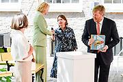 AMSTERDAM, 17-06-2021 , Amsterdam Museum<br /> <br /> Koning Willem Alexander tijdensde opening van de tentoonstelling 'De Gouden Koets' in het Amsterdam Museum. Na een restauratie van ruim 5 jaar zal de Gouden Koets van vrijdag 18 juni tot zondag 27 februari 2022 te bezichtigen zijn voor publiek.<br /> FOTO: Brunopress/Patrick van Emst
