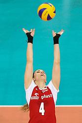 04.01.2014, Atlas Arena, Lotz, POL, FIVB, Damen WM Qualifikation, Polen vs Spanien, im Bild Izabela BELCIK (POL) // Izabela BELCIK (POL) during the ladies FIVB World Championship qualifying match between Poland and Spain at the Atlas Arena in Lotz, Poland on 2014/01/04. EXPA Pictures © 2014, PhotoCredit: EXPA/ Newspix/ Tomasz Jastrzebowski<br /> <br /> *****ATTENTION - for AUT, SLO, CRO, SRB, BIH, MAZ, TUR, SUI, SWE only*****