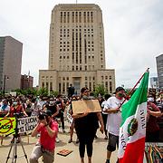 Black Lives Matter Protest at City Hall in Kansas City, Missouri - June 5, 2020.