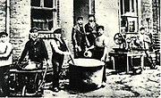 1878 scene of the laboratory of the factory established by Friedrich Bayer in Elberfeld in 1863.  This enterprise developed into Bayer AG, the famous pharmaceutical company.