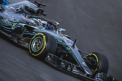 March 6, 2018 - Barcelona, Catalonia, Spain - VALTTERI BOTTAS (FIN) drives in his Mercedes W09 EQ Power + during day five of Formula One testing at Circuit de Catalunya (Credit Image: © Matthias Oesterle via ZUMA Wire)