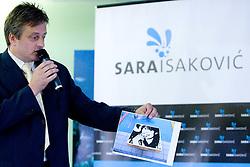 Ciril Globocnik at Press conference of Slovenian swimmer Sara Isakovic, on June 23, 2009, in Atlantis, BTC, Ljubljana, Slovenia. (Photo by Vid Ponikvar / Sportida)