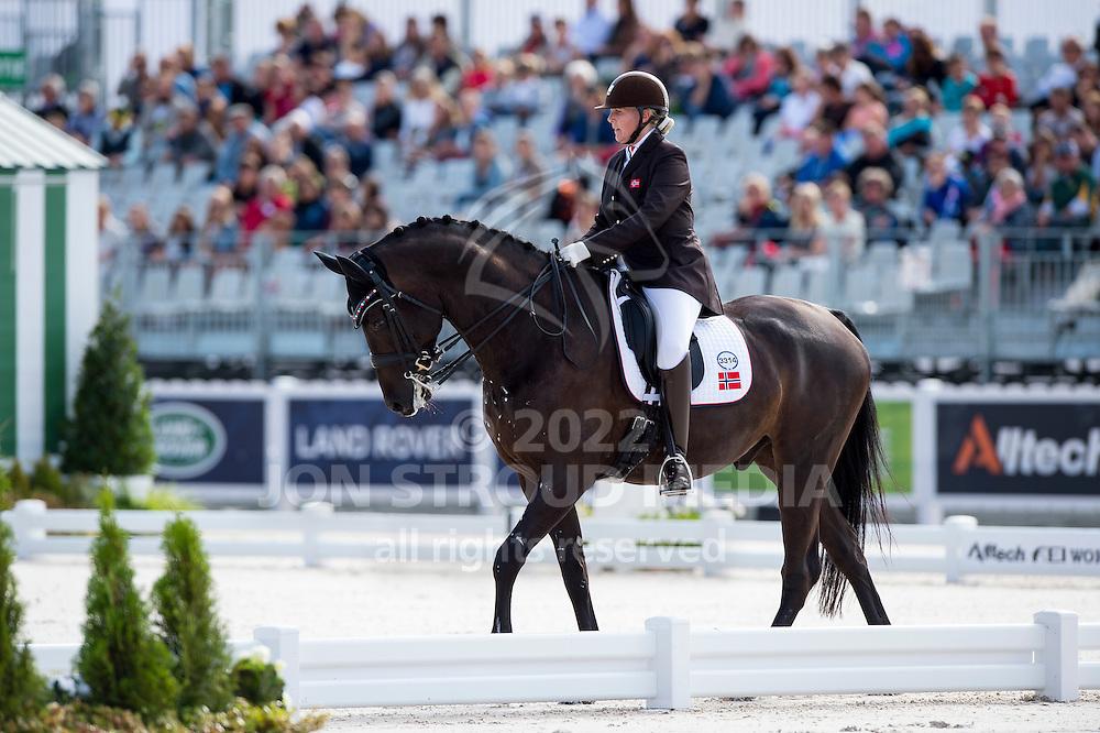 Ann Cathrin Lubbe, (NOR), Porsborggaardens Donatello - Team Competition Grade III Para Dressage - Alltech FEI World Equestrian Games™ 2014 - Normandy, France.<br /> © Hippo Foto Team - Jon Stroud <br /> 25/06/14