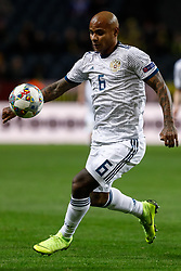 November 21, 2018 - Stockholm, Sweden - Ari of Russia in action during the UEFA Nations League B Group 2 match between Sweden and Russia on November 20, 2018 at Friends Arena in Stockholm, Sweden. (Credit Image: © Mike Kireev/NurPhoto via ZUMA Press)