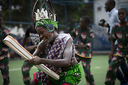 The Queen's Baton attended events in Lusaka, Zambia on April 25, 2017, on the first full day in the country including an official ceremony to start the Relay, a visit to East Park shopping mall and to the Lusaka International Community School. This Queen's Baton Relay will visit all 70 nations and territories of the Commonwealth, over 388 days and cover 230,000km. It will be the longest Relay in Commonwealth Games history, finishing at the Opening Ceremony on the Gold Coast on 4th April 2018. Photo shows dancers at the Lusaka International Community School during a celebration event.