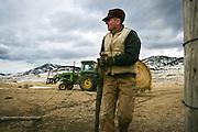 Reportage sur Jerry, eleveur de betail dans la vallee du Paradis pres de Livingston, Montana, USA//Report on Jerry, a farmer in the Paradise Valley, near Livingston, Montana, USA