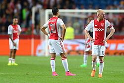 04-08-2015 NED: UEFA CL qualifying AFC Ajax - Rapid Wien, Amsterdam<br /> Ajax is al in de derde voorronde van de Champions League uitgeschakeld. Rapid Wien bleek een niet te nemen horde. Na de 2-2 in Wenen waren de Oostenrijkers in de Arena met 3-2 te sterk / Davy Klaassen #10