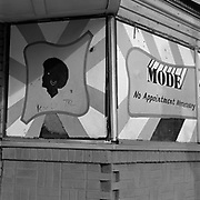 A closed down hair salon at the corner of Georgia Ave. NW and Irving St. NW in the Park View Neighbourhood in Washington D.C., USA.<br /> <br /> (Credit Image: © Louie Palu/ZUMA Press)
