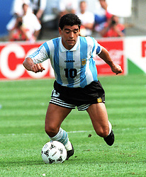 June 25, 1994 - 940625 Fotboll, VM 1994,  Argentina - Nigeria: Diego Maradona..© Bildbyran - VM94 (Credit Image: © Lennart MNsson/Bildbyran via ZUMA Press)