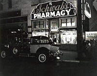 "1949 Filming the movie ""Sunset Boulevard"" at Schwab's Drugstore"