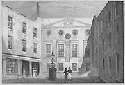 Apothecaries Hall, Pilgrim Street, engraving from 'Metropolitan Improvements, or London in the Nineteenth Century' England, UK 1828 , drawn by Thomas H Shepherd