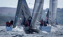 Clyde Cruising Club's Scottish Series 2019<br /> 24th-27th May, Tarbert, Loch Fyne, Scotland<br /> <br /> Day 1, FRA111, F'nGr8, Carrickfergus YC,First<br /> <br /> Credit: Marc Turner / CCC