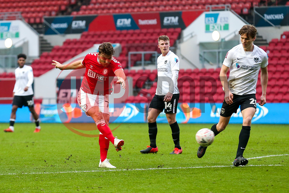 Chris Martin of Bristol City scores a goal to make it 2-1 - Rogan/JMP - 10/01/2021 - Ashton Gate Stadium - Bristol, England - Bristol City v Portsmouth - FA Cup.