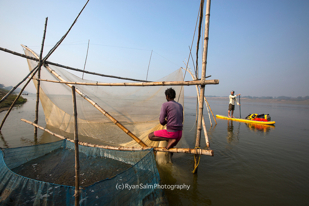 Rural fishing practices on the Ganga.