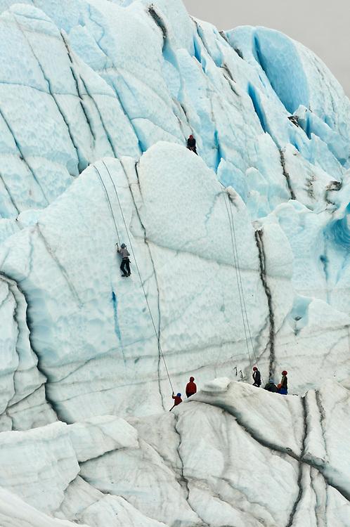 Palmer, Alaska.Trekking on Matanuska Glacier with James and Juliana Whitaker Aikins.  MR