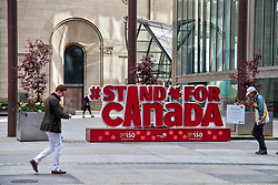 May 29, 2017 - Toronto, Ontario, Canada - Sign celebrating the 150th birthday of Canada as preparations begin for the 150th anniversary of Canada (the 150th anniversary of Confederation) in Toronto, Ontario Canada. Many celebrations are planned across the country leading up to the main celebration on July 1, 2017. (Credit Image: © Creative Touch Imaging Ltd/NurPhoto via ZUMA Press)