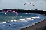 Tibau do Sul_RN, Brasil...Na foto, aitividade de parapente na praia da Cacimbinha em Tibau do Sul, Rio Grande do Norte...Paragliding in Cacimbinha beach in Tibau do Sul, Rio Grande do Norte...Foto: LEO DRUMOND / NITRO