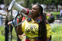 Marvina Newton, founder of United for Black Lives, addresses fellow civil rights activists taking part in a Kill The Bill National Day of Action in protest against the Police, Crime, Sentencing and Courts (PCSC) Bill 2021 on 29th May 2021 in London, United Kingdom. The PCSC Bill would grant the police a range of new discretionary powers to shut down protests, including the ability to impose conditions on any protest deemed to be disruptive to the local community, wider stop and search powers and sentences of up to 10 years in prison for damaging memorials.