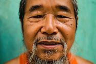 Portrait of Y Kong, a figure of Co Tu ethnic group, Central Vietnam, Southeast Asia