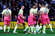 Manchester City Manchester City celebrate  Raheem Sterling scoring a goal to make it 1-0 during the EFL Cup match between Preston North End and Manchester City at Deepdale, Preston, England on 24 September 2019.