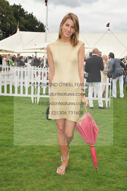 SUSANNA WARREN at the 25th annual Cartier International Polo held at Guards Polo Club, Great Windsor Park, Berkshire on 26th July 2009.