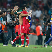 Turkey's Arda TURAN (C) celebrate his goal during their UEFA EURO 2012 Qualifying round Group A soccer match Turkey betwen Kazakhstan at TT Arena Istanbul September 02, 2011. Photo by TURKPIX