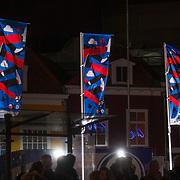 NLD/Leeuwarden/20180127 - Alexander en Maxima openen Leeuwarden-Fryslân 2018, Vlaggen