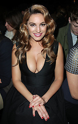Kelly Brook at the Giles  show at London Fashion Week, Monday 20th February 2012 Photo by: Stephen Lock / i-Images