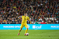 March 22, 2019 - Lisbon, Portugal - Vitaliy Mykolenko of Ukraine in action during the Qualifiers - Group B to Euro 2020 football match between Portugal vs Ukraine. (Credit Image: © Henrique Casinhas/SOPA Images via ZUMA Wire)