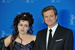 © licensed to London News Pictures. 16/02/2011. Helena Bonham Carter and Colin Firth pose for photographs at the 61st Berlin Film Festival ahead of the Oscars in 10 days time where the movie hopes to win many awards including best actor for Firth and Best Movie..Photo credit should read Theodore Wood/LNP