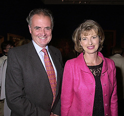 MR & MRS PETER HAMBRO, members of the banking family, at a reception in London on 27th September 2000.OHJ 32
